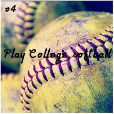 Well, not play, but in less than four years, watch our granddaughter play college softball!