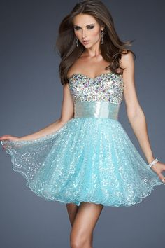 2014 New Arrival A Line Sweetheart Short/Mini Beadings&Sequins Sweet Homecoming Dresses