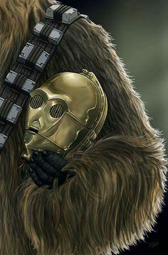 Helmet Series: C3PO & Chewie by Scott Zambelli