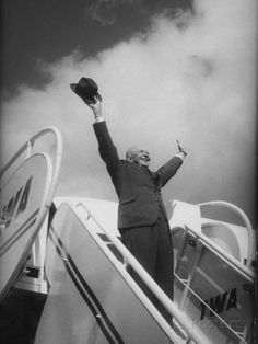 President Dwight D. Eisenhower, During Arrival For Summit Conference ..Ed Clark