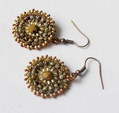 Handmade jewellery mandala bursztynowa koła ręcznie plecione