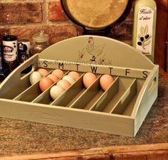 Chic Country House Coops | Second Shout Out -- I don't have chickens...but this is a good idea to know which eggs are freshest. Cool Stuff!