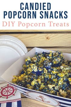 Make delicious and fun colorful candied popcorn for any party with the simple DIY from Everyday Party Magazine. #PartyFood #CandiedPopcorn