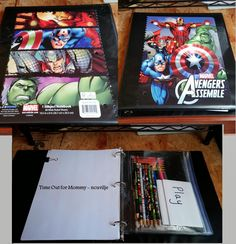 DIY Traveling Art Supplies Book. Keep all of your kid's art supplies in one place. #organization #travel