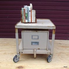 Vintage Rolling File Cabinet Industrial Cart by beep3 on Etsy, $162.50
