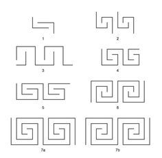 Meander was a ornament pattern found in ancient Greece. The patterns were symbolic for the labyrinth.