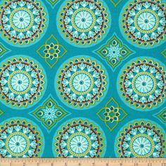 Terrasol Indoor/Outdoor Sundial Peacock Fabric