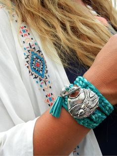 Boho Chic Hippie Jewelry Boheme Leather Wrap Bracelet by HappyGoLicky is 10% off with coupon code PIN10 $118 #Bohemian #Fashion Just CLICK pic.
