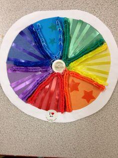 "Year 7 ""surprise me"" colour wheel collage homework"