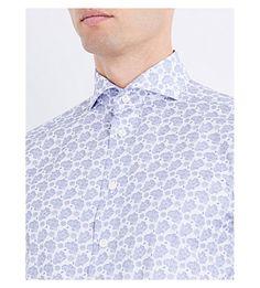 ETON - Paisley slim-fit cotton shirt | Selfridges.com