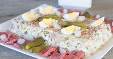 Deze alternatieve salade met bloemkool in plaats van aardappel is koolhydraatarm en lactosevrij!