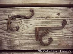 Gorgeous ornate hooks starting at $11 each www.onslowhistoriclumber.ca