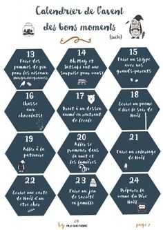 Calendrier de l'avent des bons moments (free printable) - Milk and FabricMilk and Fabric