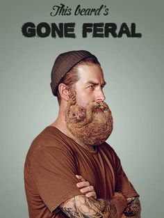 This Man's Beard Looks Like a Possum, But on Purpose