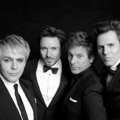 Duran Duran b&w, tuxedos, 2011 Nick Rhodes, Fab Five, Simon Le Bon, Tears For Fears, John Taylor, Out Of My Mind, Van Halen, Back In The Day, New Wave
