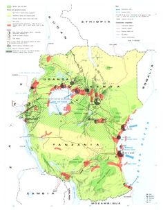 East Africa Map 1973