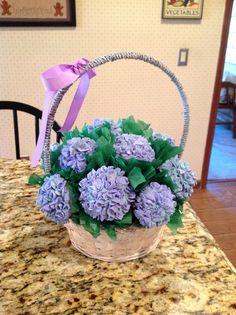 Hydrangea Bouquet Cupcakes