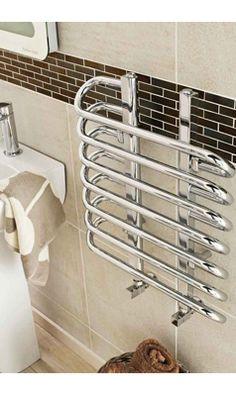 Hudson Reed Finesse Vertical Designer Heated Towel Rail Radiator - Chrome - 610 x Bathroom Radiators, Heating And Plumbing, Towel Radiator, Hudson Reed, Designer Radiator, Towel Warmer, Heated Towel Rail, Radiant Heat, Plastic Laundry Basket