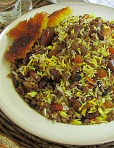 Persian rice, lentils with Tahdig:  Spicy