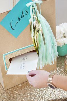 DIY Wedding // fun twist on a 'wedding card holder' make your own using a large . DIY Wedding // f Craft Wedding, Wedding Cards, Diy Wedding, Dream Wedding, Wedding Decorations, Wedding Reception, Chambelanes, Future Mrs, Diy And Crafts Sewing