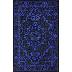 nuLOOM Handmade Traditional Overdyed Blue Wool Rug (5' x 8') | Overstock.com Shopping - Great Deals on Nuloom 5x8 - 6x9 Rugs