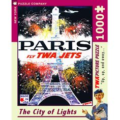 This Eiffel Tower Jigsaw Puzzle features vintage TWA travel poster art. Perfect for intermediate puzzlers, this 1000 piece puzzle…