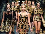 Dolce & Gabbana desfiló en la Semana de la Moda de Milán para presentar su nueva colección Otoño-Invierno 2012.