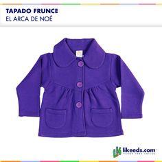 Tapado Frunce para bebas de El Arca de Noé.  Para conocer talles, colores y comprar ¡Hacé click en la imagen!