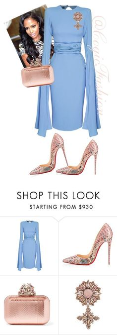 """""""Easter Sunday!!!"""" by cogic-fashion ❤ liked on Polyvore featuring Alex Perry, Christian Louboutin, Jimmy Choo and Gucci"""