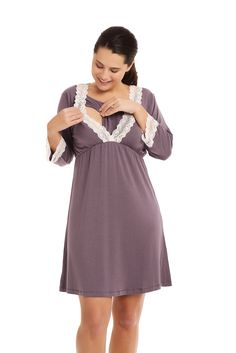Maternity Pyjamas | Nursing Night Gown | Bellefit