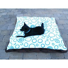 """$225 luxury dog bed 40"""" x 40"""" for large dogs and small dogs who like large beds. Washable chic durable"""