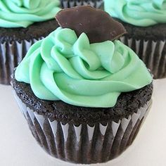 Thin Mint Cupcakes    Crush 1 sleeve of Girl Scout thin mint cookies or 1/2 a package Kebbler Grasshopper cookies. Then add it to this cupcake batter and cook according to the recipe directions.