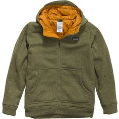 Double-down on warmth with the Patagonia Better Sweater Insulated Boys' Full-Zip Hoodie, which combines soft polyester fleece and midweight Thermogreen recycled polyester insulation to create a casual fleece that's warm, comfy, and stylish enough that he can wear it anywhere.