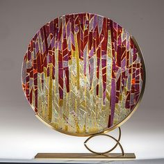 Sunrise Sunset by Varda Avnisan: Art Glass Sculpture available at www.artfulhome.com