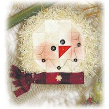 Chilly Snowman Candle Mat