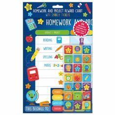 Homework & Project Reward Chart   Craft & Design Stationery - B&M Wow Deals, Reward Yourself, Fresh Start, Design Crafts, Homework, Back To School, Stationery, Chart, Writing