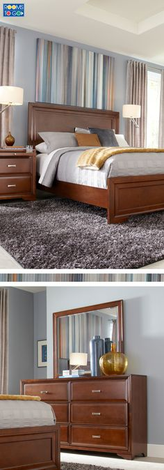 Create a stylish bedroom retreat you'll love coming home to when you select the Belcourt collection.