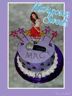 Ariana grande birthday cake made by Mariposa's sweets.  #arianagrande #musicnotes
