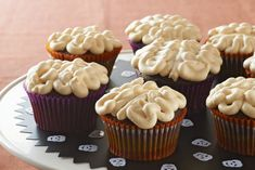 Sweetened pudding is piped on top of chocolate cupcakes to look like brains. As long as they're on a Halloween dessert table, that's perfectly okay!