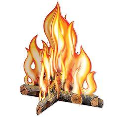 """3-D Campfire Centrepiece - 12"""" Party Supplies Canada - Open A Party"""