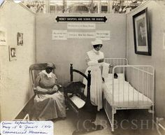 Civic Exposition of Mercy Hospital and School for Nurses at the Commercial Museum, May 15-June 10, 1916. Image courtesy of the Barbara Bates Center for the Study of the History of Nursing.
