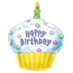 Un gracioso globo para una fiesta cupcake - inflado con helio, flota durante días! De www.fiestafacil.com, $5.40 / A fun balloon for a cupcake party - from www.fiestafacil.com