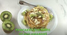 Pancakes aux kiwis et aux amandes Kiwi, Granola, Pancakes, Baked Potato, Brunch, Potatoes, Menu, Baking, Breakfast