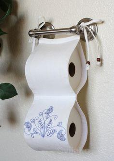 2roll toilet paper holder modern Jacobean hand by vijako on Etsy, $65.00