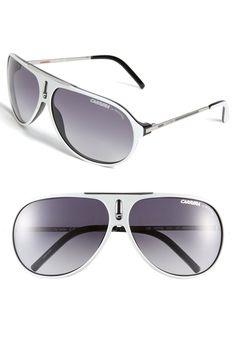 160e13ee27018 Carrera Eyewear  Hots  64mm Aviator Sunglasses available at  Nordstrom  White Sunglasses