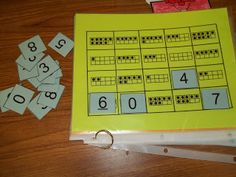 Math Tubs in Kindergarten: MORE Printing numbers