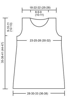 """Vestito DROPS ai ferri in """"Baby Merino"""". ~3-9-18 m-(2-4)anni"""