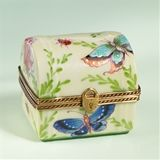Limoges Baby Deer with Butterfly Box Limoges Boxes France