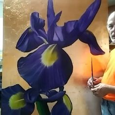 Award winning artist Stephen Hackley talks about this amazing original!  http://ift.tt/2ajJSbk  #art#architecture #livingroom #homedecor #homeinterior #bedroom #wallart #walldecor #walldecoration #luxury #luxurylife #luxurylifestyle #luxuryliving #highend #interiors #interiordesign #commercialdesign #commercialartwork #bigfloral #bigart #iris #florals #flower