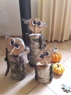 Wood Log Crafts, Wood Slice Crafts, Wood Projects, Projects To Try, Owl Sewing, Sunflower Wall Decor, Wooden Owl, Wood Scraps, Owl Crafts